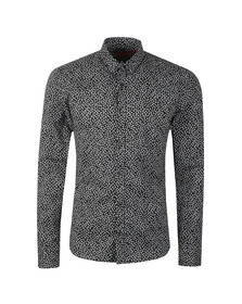 HUGO Mens Black Ero 3 Molecule Shirt