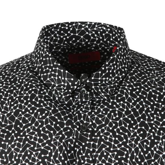 HUGO Mens Black Ero 3 Molecule Shirt