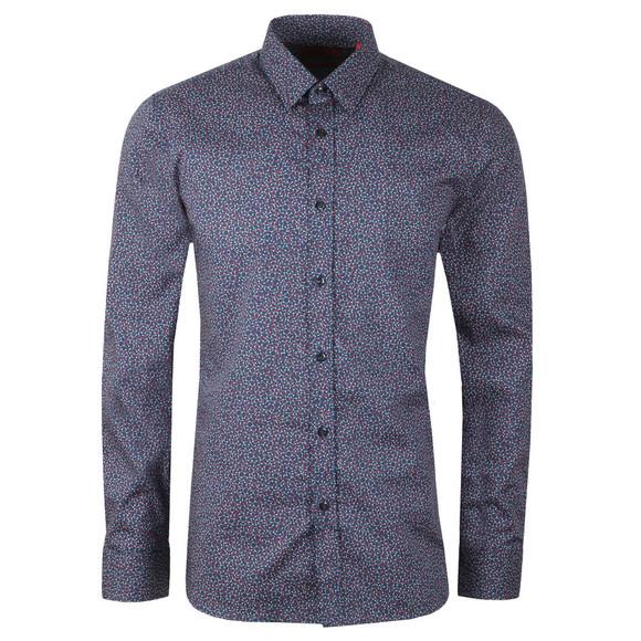 HUGO Mens Blue Molecule Elisha Shirt