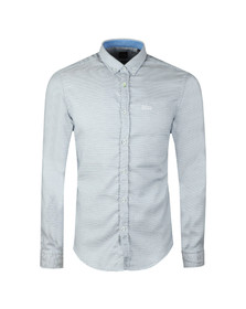BOSS Mens Blue Athleisure Biado_R Shirt