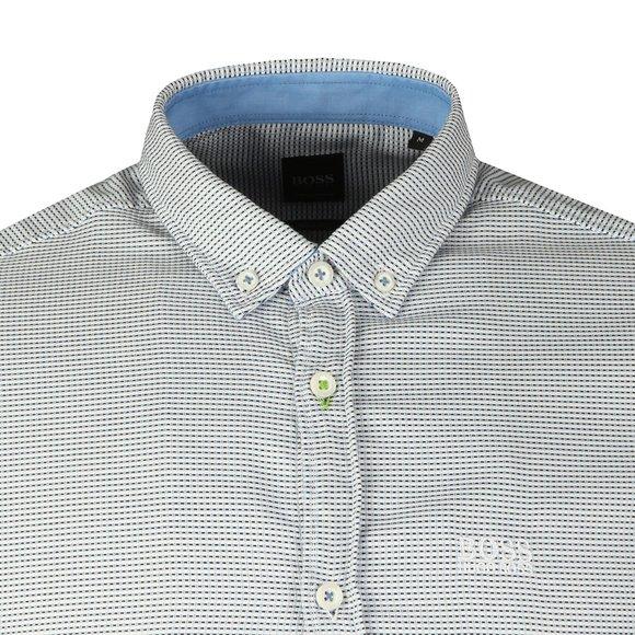 BOSS Mens Blue Athleisure Biado_R Shirt main image