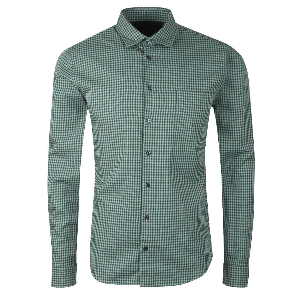 f737275c6 HUGO BOSS MYPOP MENS GREEN LONG SLEEVE SHIRT Heren: kleding