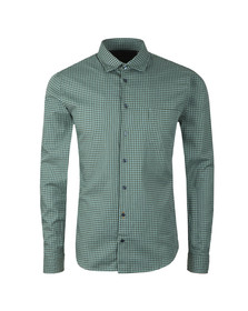 BOSS Mens Green Casual Mypop Check Shirt