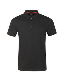 BOSS Mens Black Athleisure Paddy 2 Polo Shirt