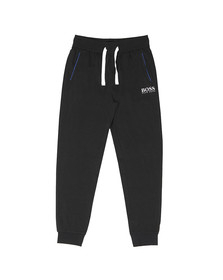 BOSS Bodywear Mens Black White Logo Sweatpant