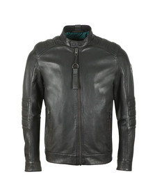 BOSS Mens Black Casual Jagson Leather Jacket