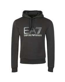 EA7 Emporio Armani Mens Black 6ZPM44 Large Logo Hoody