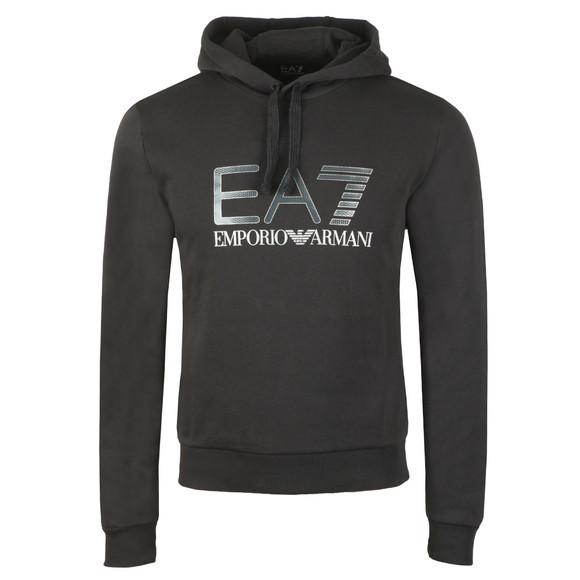 EA7 Emporio Armani Mens Black 6ZPM44 Large Logo Hoody main image