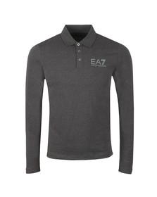 e19684b9 EA7 Emporio Armani Mens Grey Small Logo Polo Shirt LS