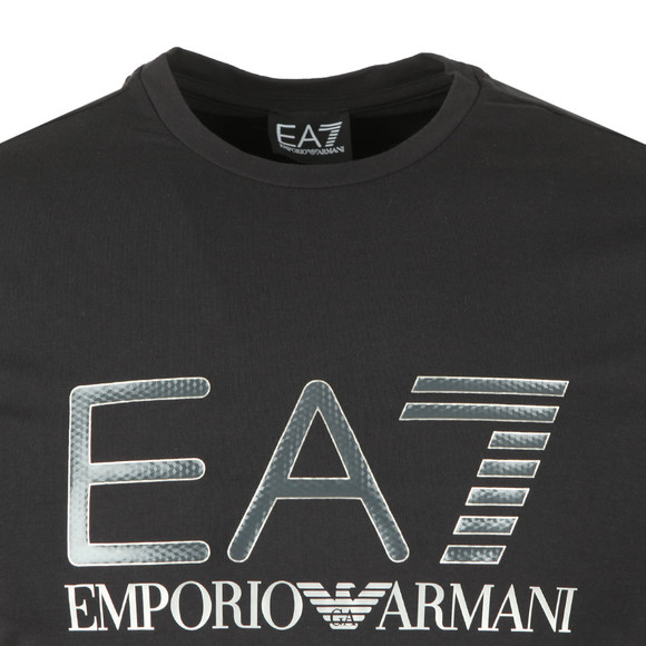 EA7 Emporio Armani Mens Black Large Chest Logo Long Sleeve T Shirt main image