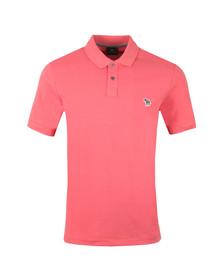 PS Paul Smith Mens Pink Zebra Polo Shirt