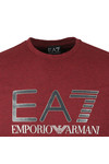 EA7 Emporio Armani Mens Red Large Chest Logo T-Shirt