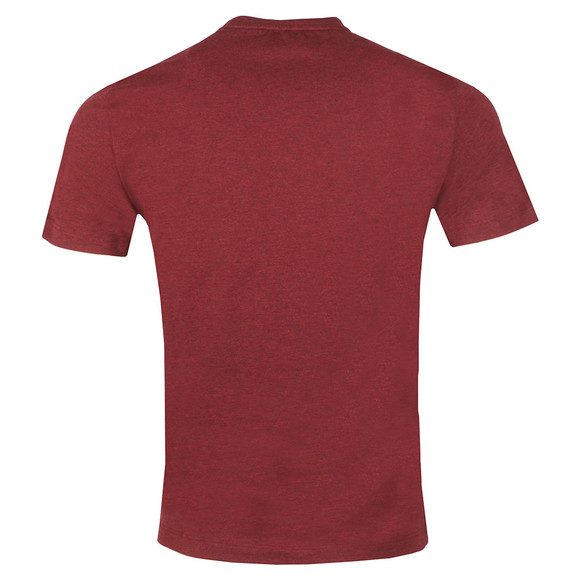 EA7 Emporio Armani Mens Red Large Chest Logo T-Shirt main image
