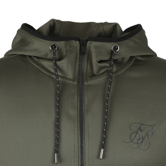 Sik Silk Mens Green Agility Zip Hoodie main image