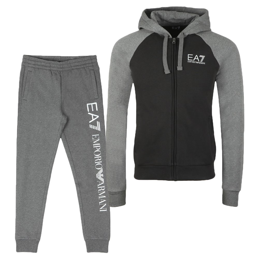 EA7 Emporio Armani Two Tone Full Zip Hooded Tracksuit   Oxygen Clothing b01fce71523