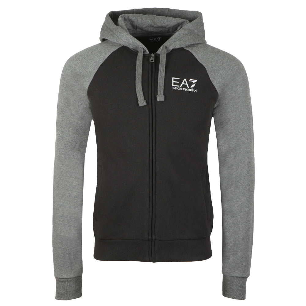 ... EA7 Emporio Armani Mens Grey Two Tone Full Zip Hooded Tracksuit main  image ... 3253e6cfeff