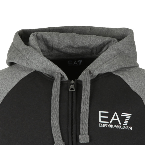 EA7 Emporio Armani Mens Grey Two Tone Full Zip Hooded Tracksuit main image
