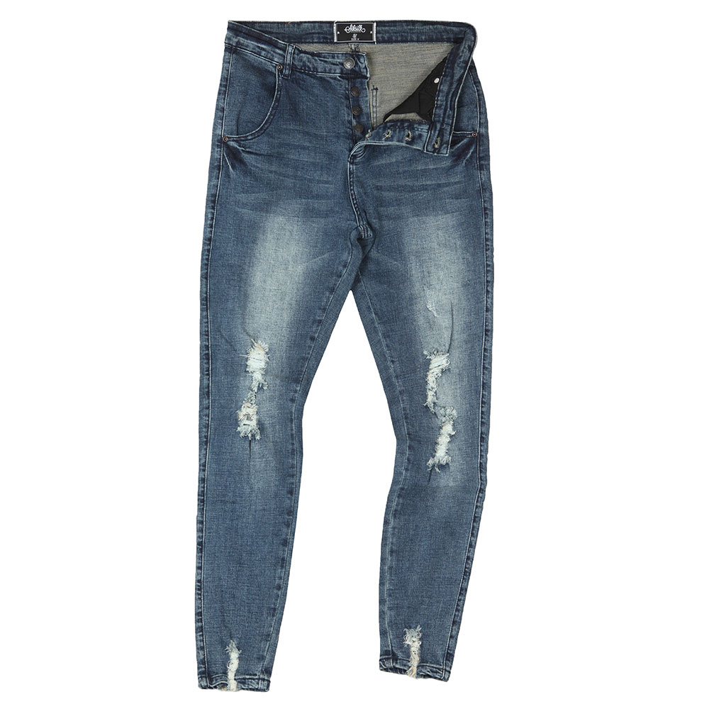 Jagged Hem Denim Jean main image