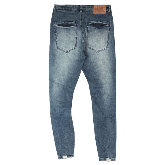 Sik Silk Mens Blue Jagged Hem Denim Jean main image