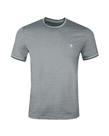 Original Penguin Mens Blue S/S Mercerized Tee
