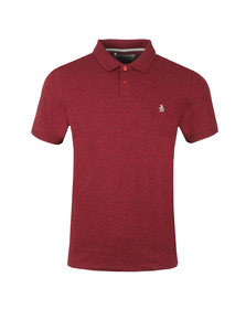 Original Penguin Mens Red S/S Chunky Rib Polo