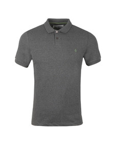 Original Penguin Mens Grey S/S Chunky Rib Polo