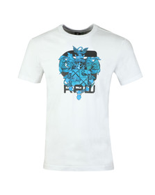 G-Star Mens White S/S Graphic Tee
