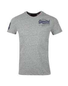 Superdry Mens Grey S/S Goods Duo Essential Tee