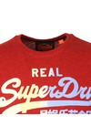Superdry Mens Red Vintage Logo 1st Tee
