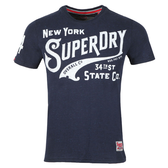 Superdry Mens Blue 34th St Tee main image