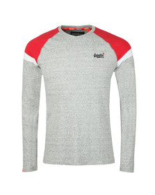 Superdry Mens Grey O L Sleeve Baseball LS Tee