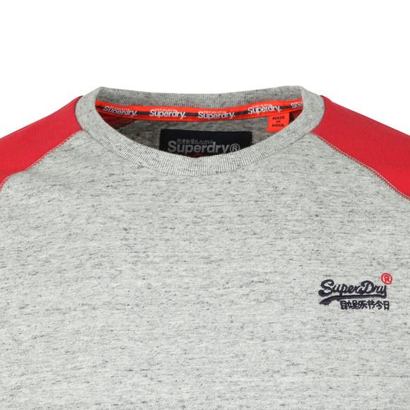 Superdry Mens Grey O L Sleeve Baseball LS Tee main image