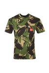 HUF Mens Green Woven Label Pocket Camo T Shirt