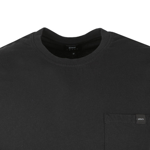 Edwin Mens Black Pocket Crew T-Shirt main image
