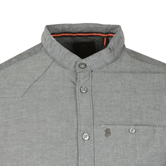 Luke 1977 Mens Black L/S Baseline Grandad Collar Shirt main image