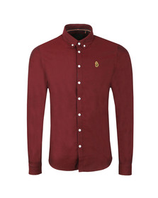 Luke 1977 Mens Red L/S Cuffys Call Shirt