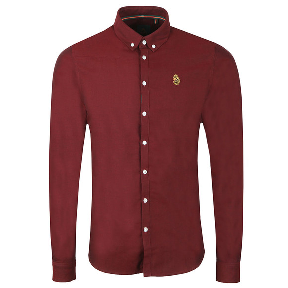 Luke Mens Red L/S Cuffys Call Shirt main image