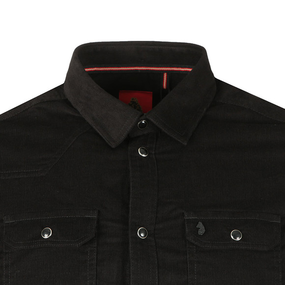 Luke Mens Black Our Roy LS Popper Fastening Shirt main image