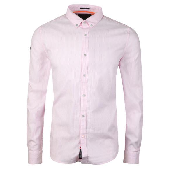 Superdry Mens Pink Premium Button Down LS Shirt
