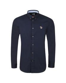 PS Paul Smith Mens Blue L/S Zebra Shirt