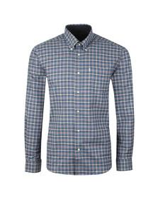 Barbour Lifestyle Mens Blue L/S Bisley Shirt
