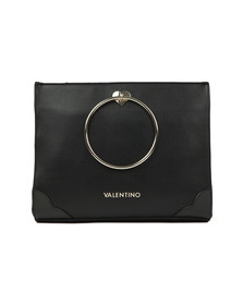 Valentino by Mario Womens Black Aladdin Large Tote