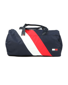 Tommy Hilfiger Mens Blue Duffel Chevron Bag