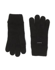 Gant Mens Black Knitted Wool Gloves