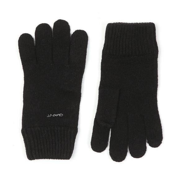 Gant Mens Black Knitted Wool Gloves main image