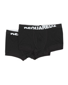 Dsquared2 Mens Black Twin Pack Trunks