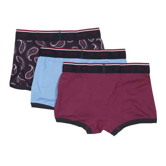 Ted Baker Mens Multicoloured Wilton Paisley Boxer 3 Pack main image
