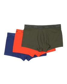 Calvin Klein Mens Orange 3 Pack Low Rise Trunk