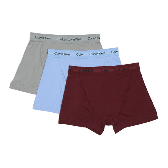 Calvin Klein Mens Silver 3 Pack Trunks main image