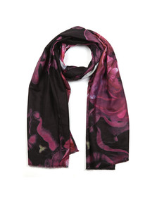 Ted Baker Womens Black Kaii Splendour Long Woven Scarf